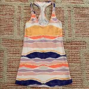 LULULEMON striped Racerback Tank Top Size 8
